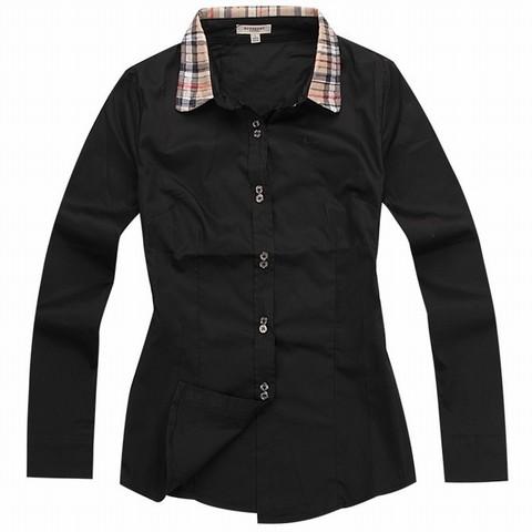 5b6d370ad248 burberry chemise noir,Chemises Burberry pas cher Black