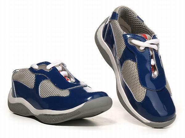 Prada Baskets À Lacets - Bleu qdTE9yUr