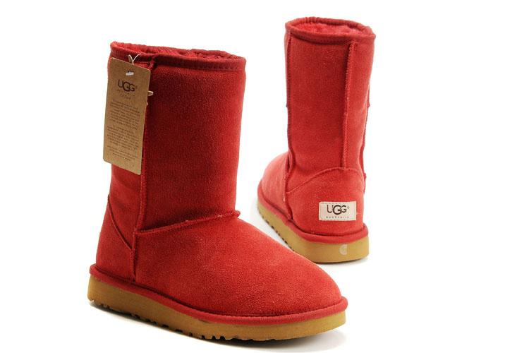 bottes ugg rouge